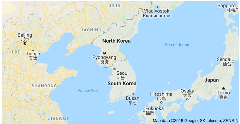 Korea in Google Map